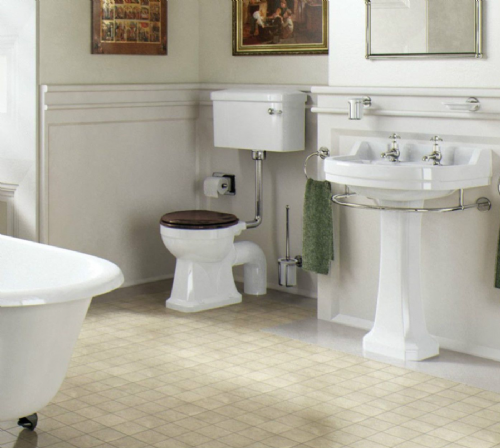 Burlington Edwardian Bathroom Suite, Traditional Style Toilet & Basin - Various Styles